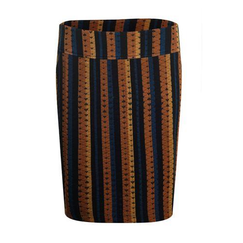 Poools dameskleding rokken - skirt jacquard printed stripes. beschikbaar in maat 36,44 (multicolor)