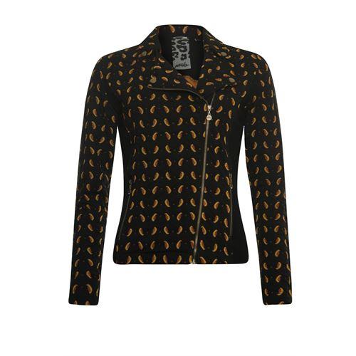 Poools dameskleding jassen & blazers - jacket jacquard. beschikbaar in maat 36 (zwart)