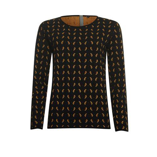 Poools dameskleding truien & vesten - pullover jacquard. beschikbaar in maat 38,40,44,46 (zwart)