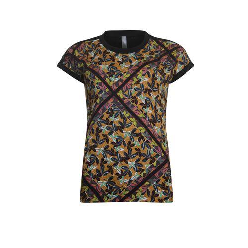 Poools dameskleding t-shirts & tops - t-shirt print woven and jersey. beschikbaar in maat 42 (multicolor)