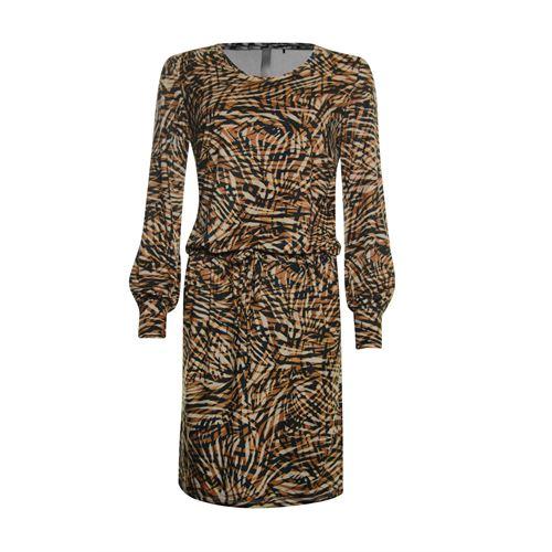 Poools dameskleding jurken - dress suedine print. beschikbaar in maat 36,38,40,42,44,46 (multicolor)